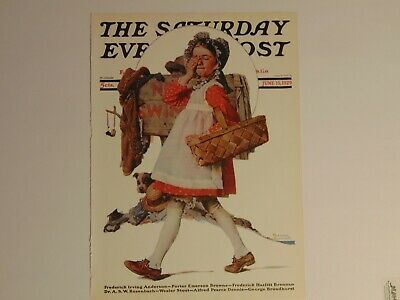 $ CDN8.94 • Buy Saturday Evening Post June 15,1929  (REPRINT) Norman Rockwell (COVER ONLY)