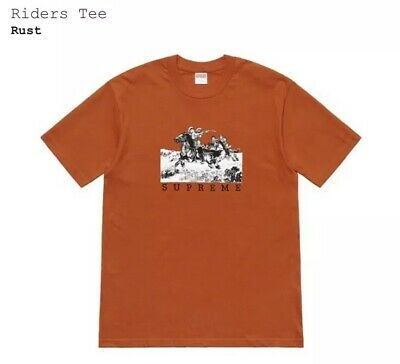 $ CDN133.34 • Buy Supreme SS19 Riders Tee Rust Size Small Sold Out Free Shipping