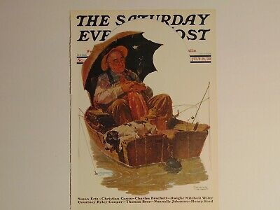 $ CDN10.14 • Buy Saturday Evening Post July 19,1930  (REPRINT) Norman Rockwell (COVER ONLY)