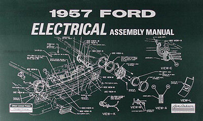 $19 • Buy 1957 Ford Electrical Assembly Manual Ranchero Fairlane Sunliner Retractable