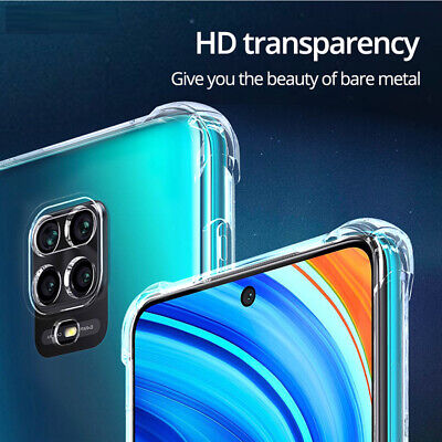 Shockproof Case For XiaoMi 9 A3 Lite Redmi 8 8A Note 8 7 6 Pro Clear Soft Cover • 1.80$