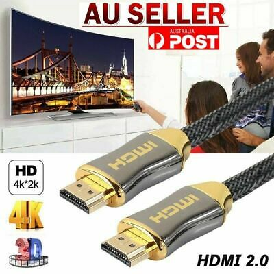 AU6.66 • Buy 4K Ultra HD Premium HDMI Cable V2.0 3D High Speed Gold Plated 1M TO 10M AUS SLR
