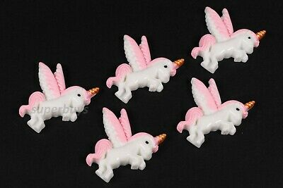 5pcs Pink Pegasus Unicorn Figurine For Cake Decoration Topper Figure Decorate • 5.02£