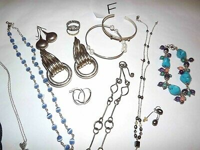 $ CDN62.60 • Buy Huge Lot F Of 925 Sterling Jewelry Necklaces, Earrings & More *lqqk*