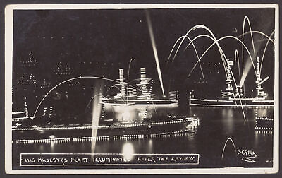 £8.50 • Buy Postcard. Royal Navy. His Majesty's Fleet Illuminated After The Review By Cribb