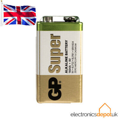 (2 PACK) GP Batteries - 9V PP3 Super Alkaline Battery - Long Lasting High Power  • 4.79£
