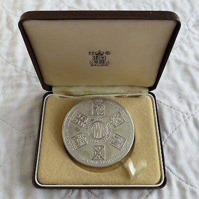1985 GREAT WESTERN RAILWAY 63mm SILVER MEDAL - Boxed • 154.95£