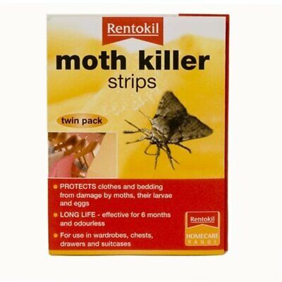 Rentokil Moth Killer Insecticide Strips With Transfluthrin FA106 • 5.99£
