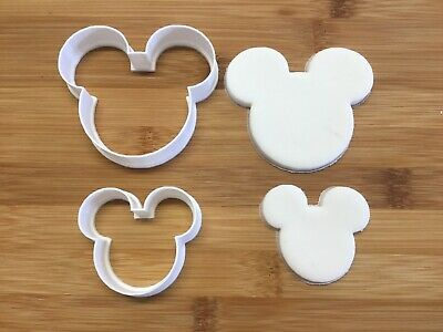 Mickey Mouse Head Cookie Cutters Set Of 2,Biscuit, Pastry, Fondant,Bread Cutter • 3.99£