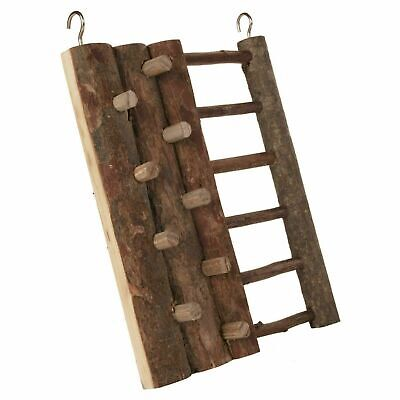 Trixie Natural Living Climbing Wall Toy With Ladder Hamsters, Mice 20x16cm, Wood • 6.06£