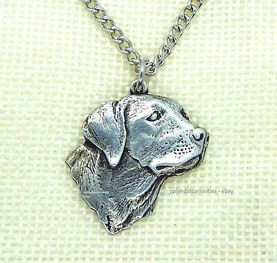 £6.95 • Buy Labrador Dog Pendant With Chain Necklace In Gift Pouch (Pewter, Made In UK)