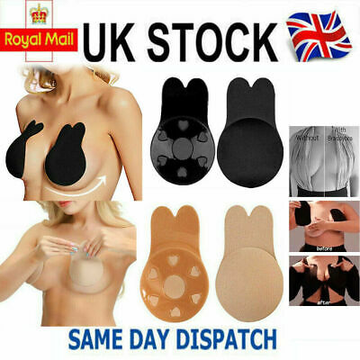 Silicone Strapless Bra Backless Push Up Adhesive Rabbit Nipple Lifter Invisible • 1.99£