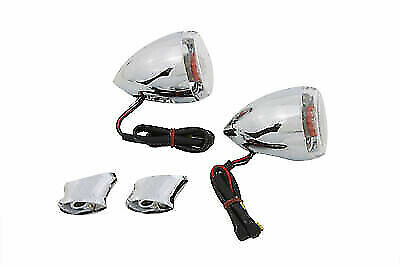 Rear Turn Signal Kit Clear Lens Red LED For Harley Davidson By V-Twin • 43.81£