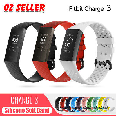 AU6.45 • Buy Fitbit Charge 3 Watch Band Strap Replacement Wristband Soft Silicone Bracelet