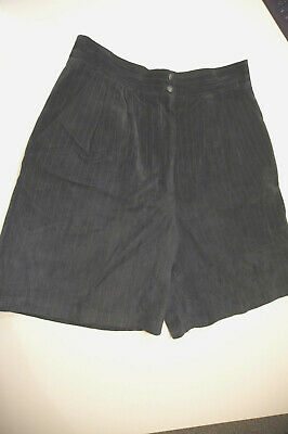 $ CDN28.88 • Buy Danier Leather Canada Suede Shorts Navy Blue Pinstripe 16 Skirt Vintage Hipster
