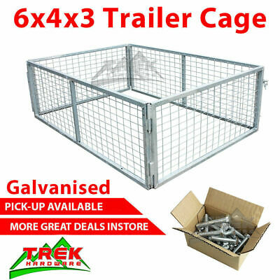 AU345.40 • Buy Trailer Cage 6x4x3. Fully Galvanised. Box Tubing. Smart Lock In System.