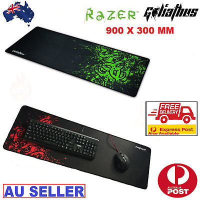 AU20.99 • Buy Large 90X30cm Anti-slip Gaming Mouse Pad Mat For PC Laptop Computer Keyboard AUS