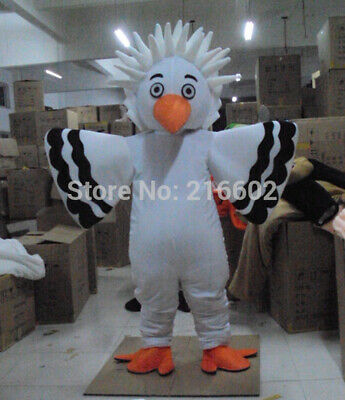 White Big Bird Eagle Mascot Costume Cosplay Party Fancy Dress Adults Parade Suit • 216.28£