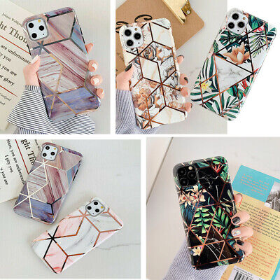 AU10.98 • Buy Iphone 8 Plus XS 11 Pro Max XR Girl Cute Soft Marble Pastel Geometric Case Cover
