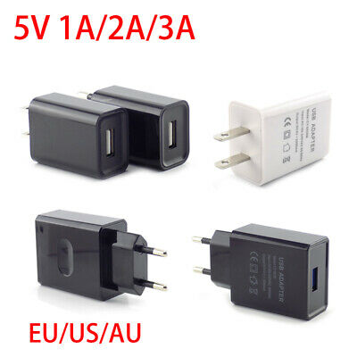 AU3.62 • Buy Universal Travel 5V 1A/2A/3A USB Wall Power Adapter Charger For IPhone Samsung