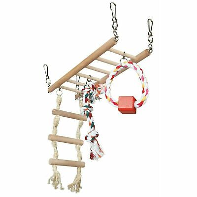 Trixie Suspension Bridge Cage Hanging Toy With Rope Ladder For Hamster/Mice Wood • 8.32£