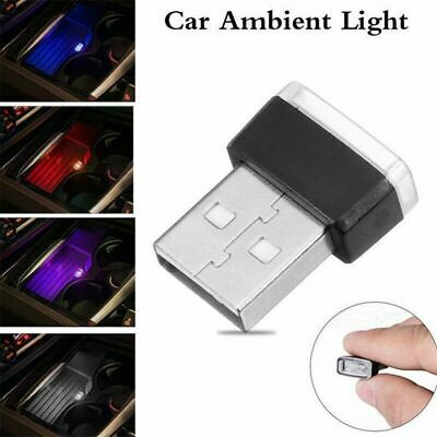Mini USB LED 5 Color Wireless Lamp Car Atmosphere Light Colorful Accessories UK • 2.99£