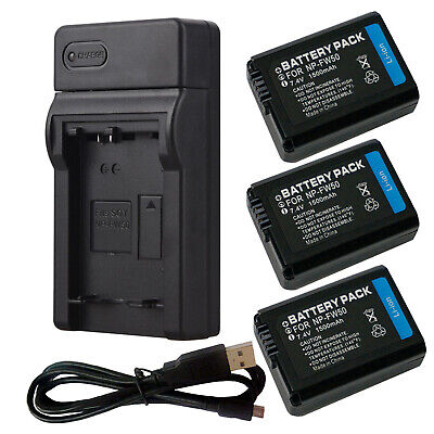 $ CDN18.42 • Buy NP-FW50 Battery For Sony Alpha A6500 A6300 A6000 A7r A7 Or USB Charger MP