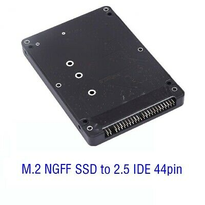 AU15.99 • Buy M.2 NGFF SATA PCIe SSD B Key To 2.5 IDE 44pin Converter Adapter With Case Black