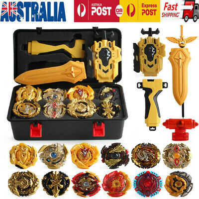 AU10.89 • Buy 12x Beyblade Gold Burst Portable Box Set - Spinning With Grip Launcher Case Toy
