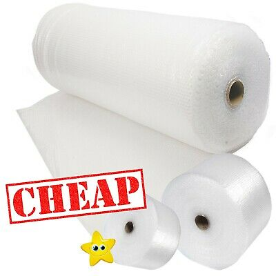 £6.79 • Buy BUBBLE WRAP ROLLS SMALL LARGE (300mm, 500mm, 750mm) - FREE UK DELIVERY