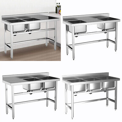 Commercial Kitchen Sink Stainless Steel Catering Ware-washing Bowl Basin Unit • 225.95£