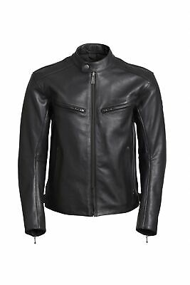 Triumph Copley Leather Motorcycle Jacket - Black - Genuine Triumph Clothing • 380£