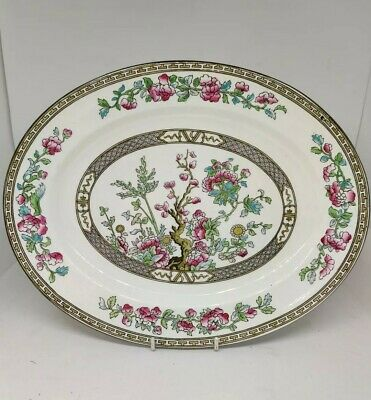 Sampson Bridgwood-indian Tree-Oval Serving Platter - Made For Harrod 31.5 X 25cm • 10£