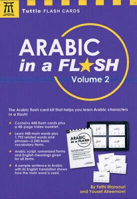 Arabic In A Flash Kit Volume 2 (Tuttle Flash Cards) By Dr Fethi Mansouri • 10.51£