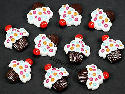 10pcs White Cupcake Figurine For Cake Decoration Topper Figure Toy Decorate • 7.26£