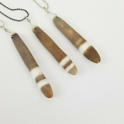 £6.54 • Buy Natural Cattail Wood Look Pendant Necklace Boho Indie Festival Mini Ball Chain