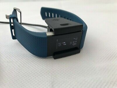 View Details Fitbit Charge 2 Heart Rate + Fitness Tracker (Dark Blue) - Size Small • 36.00£