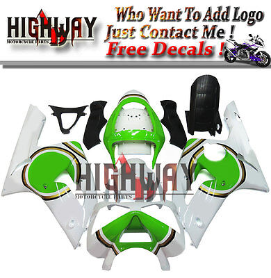 $470.99 • Buy White Motorcycle ABS Fairings Body Work Kits Set Fit Kawasaki ZX-6R 636 03 04