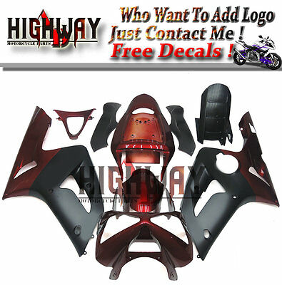 $470.99 • Buy Motorcycle ABS Fairings Body Work Kits Set Fit Kawasaki ZX6R 636 03-04 Black