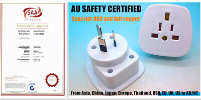 AU10.95 • Buy Universal Travel Adapter International UK USA EU To AU Australian OZ Power Plug
