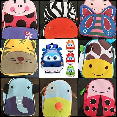 Kids Cartoon Animal Backpack Toddler Insulated School Lunch Box Waterproof Bags • 5.99£
