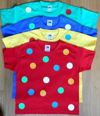 £9 • Buy New Boys Girls Spotty Dotty Children T-Shirt Tee In Many Colours. Need A Gift?