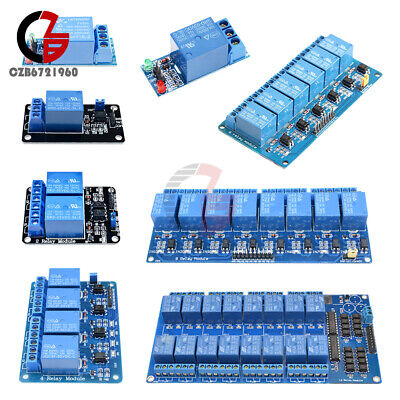 AU13.86 • Buy 1/2/4/6/8/16 Channel 5V Relay Board Module + Optocoupler LED For Arduino ARM AVR