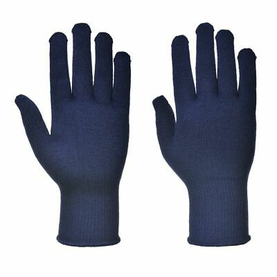 £2.99 • Buy Portwest A115 Thermal Knitted Liner Polyester Warm Gloves Hand Protection - Blue