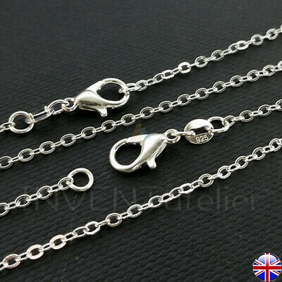 925 STERLING SILVER 0.5mm TINY OVAL CHAIN  By Metre For Jewellery Making  714_09 • 4.87£