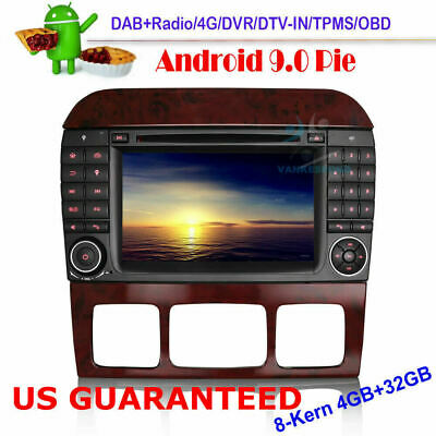 $446.49 • Buy Android 9.0 DVD Head Unit DAB+Bluetooth Radio GPS Navi For Mercedes S-Class W220