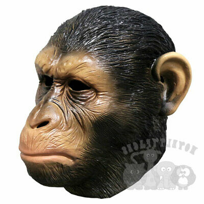 Latex Animal Mask APE Monkey Head Cosplay Fancy Dress Novelty Masquerade   • 18.99£