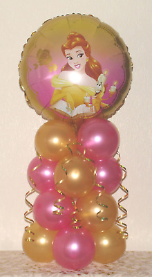 Belle -  Disney Princess - Foil Balloon Display - Table Centrepiece Decoration • 4.99£
