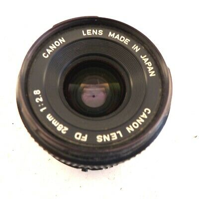 £103.50 • Buy Canon Lens Fd 28mm 1: 2,8 Wide Angle Lens