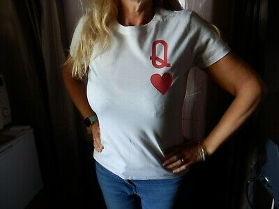 QUEEN OF HEARTS  Various Colours T Shirt Novelty Funny Love Romantic Joke Gift  • 6.75£